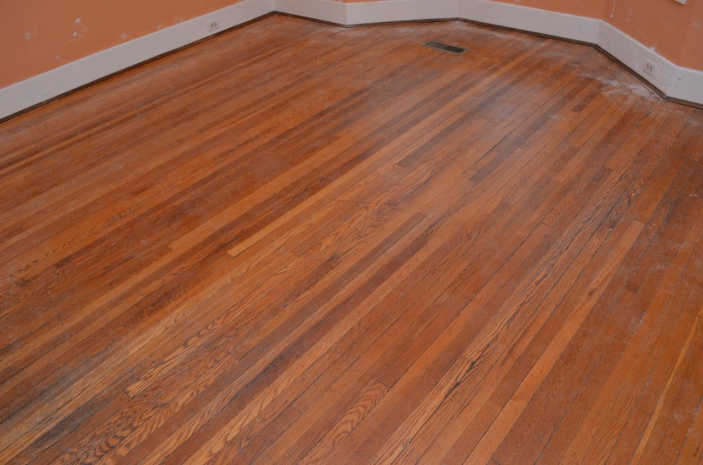 Dining room floor before