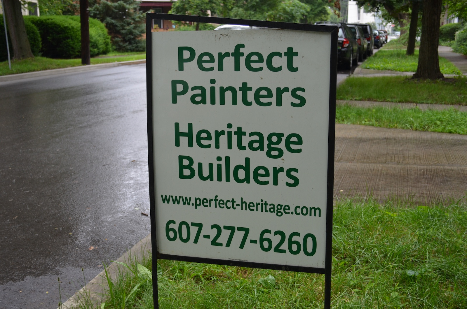 Perfect Painters Heritage Builders sign