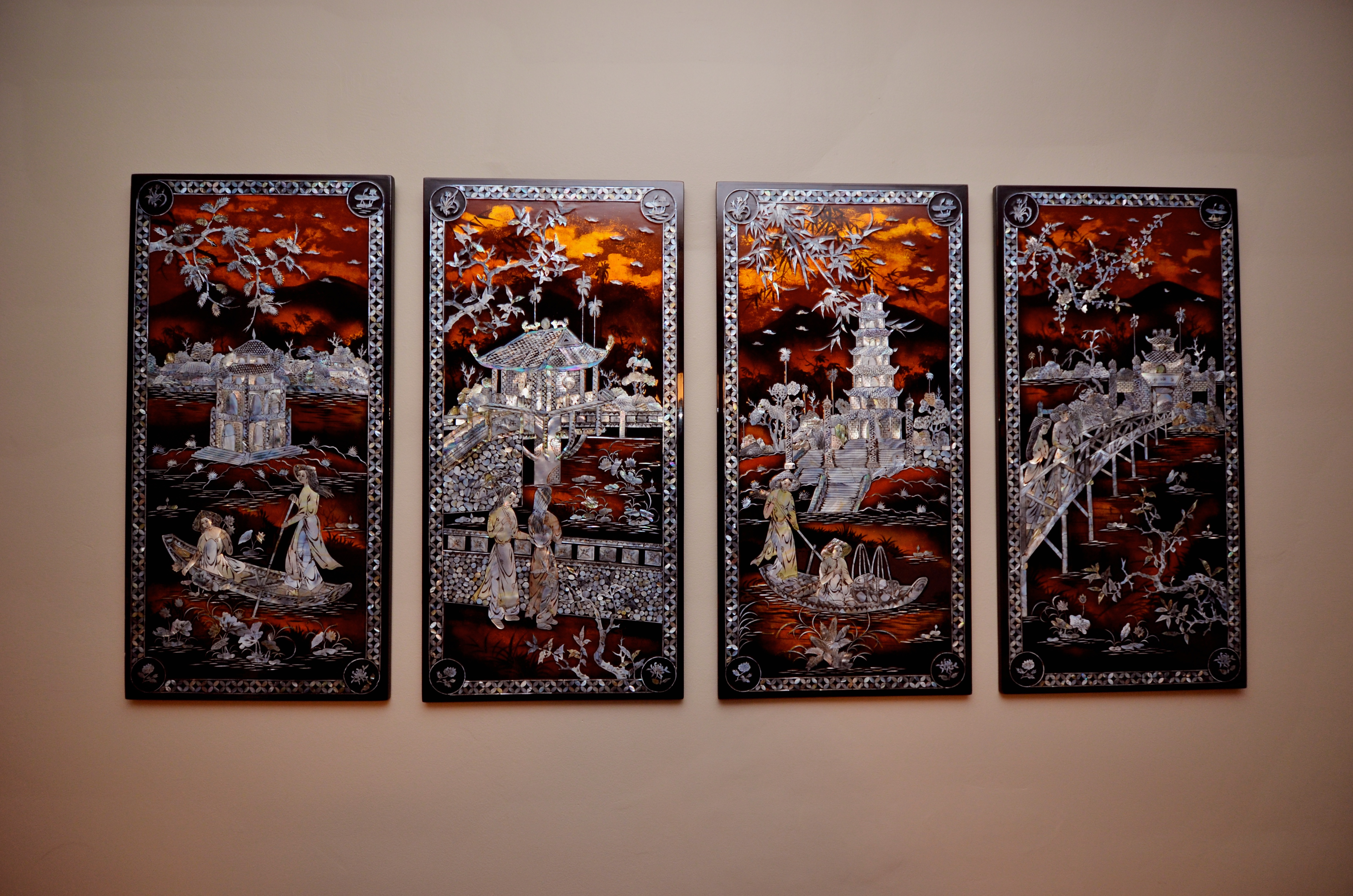 Hanging Lacquer Art 4